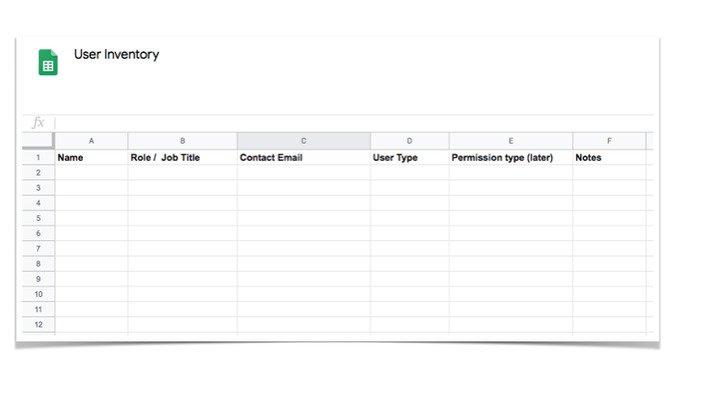 Digital Asset Management Software - User Inventory